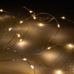 100 Warm White LED Battery Operated Dewdrop Fairy Lights