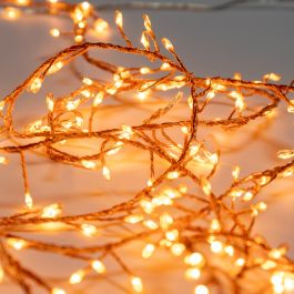 360 LED Amber Cluster Dewdrop Fairy Lights