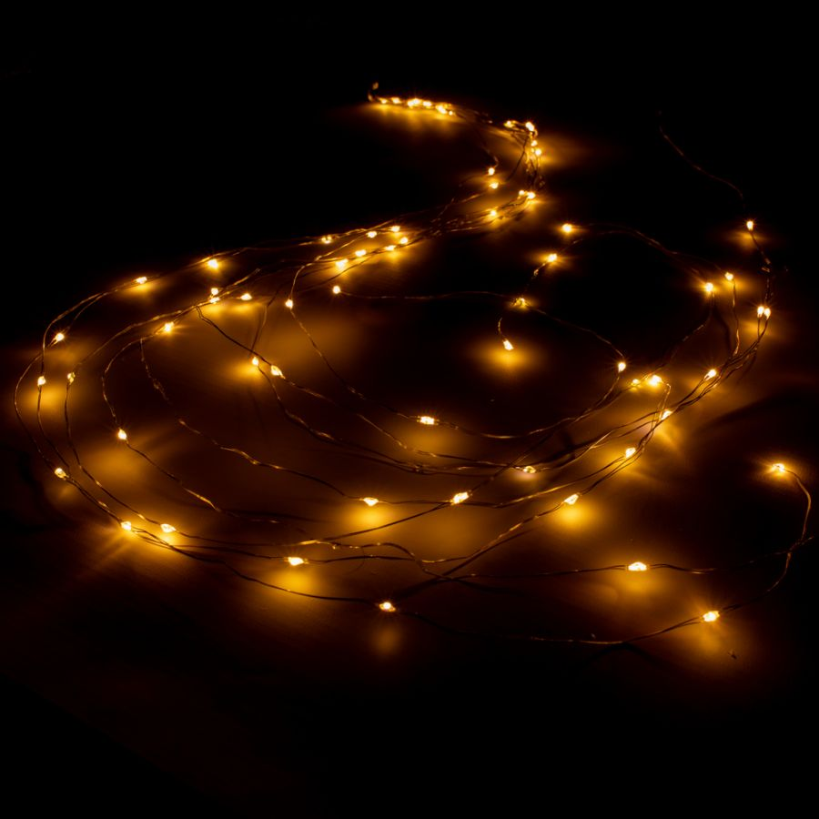 80 Warm White LED Twinkling Branch Fairy Lights (8 Strings)