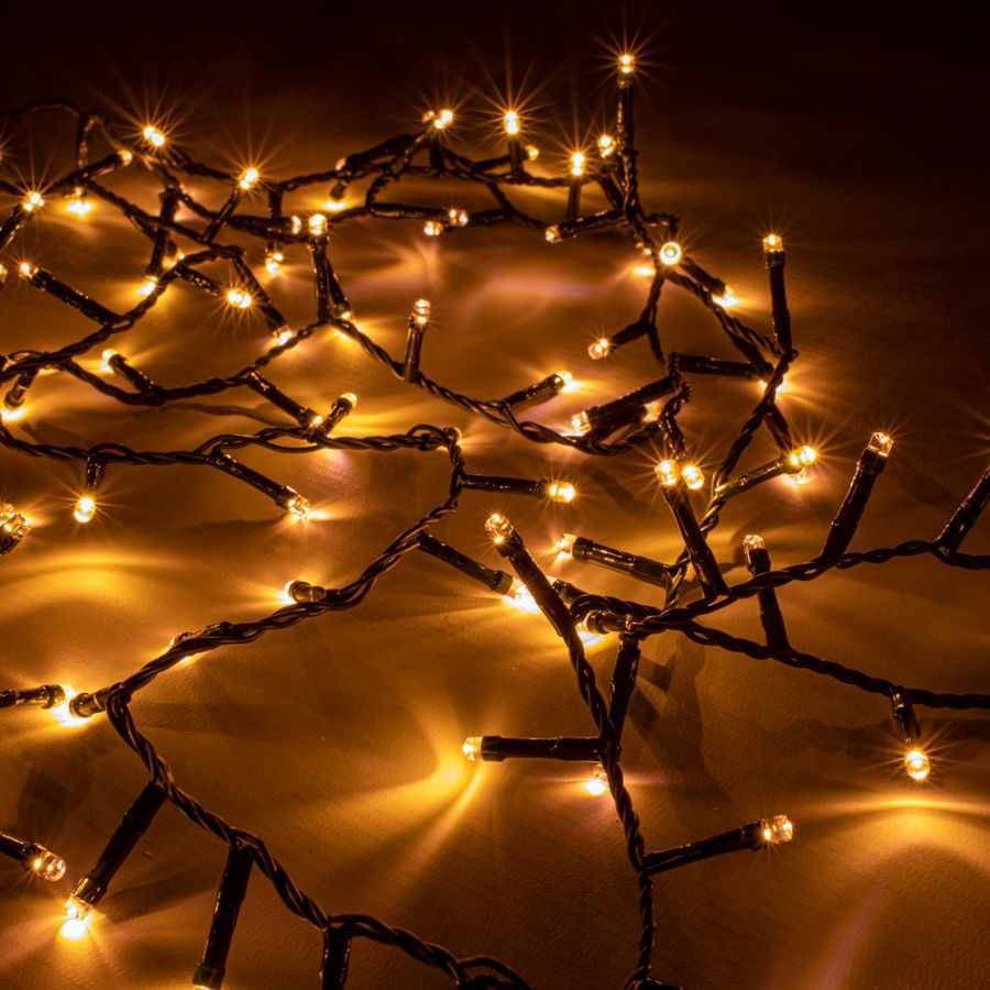 100 LED Warm White Firefly Twister Fairy Lights