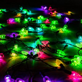 96 LED Outdoor Facet Carnival Fairy Light with Remote