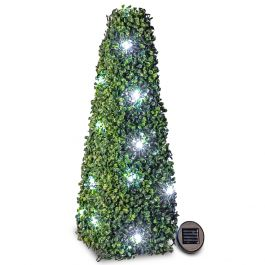 60cm Solar LED Artificial Topiary Tree by Primrose™ - 'The Buxus Obelisk'