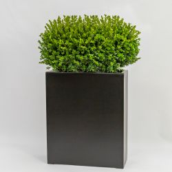 H72cm Large Polystone  Tall Trough Planter in Black
