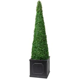 140cm Artificial Topiary Tree by Primrose™ - 'The XL Buxus Obelisk'