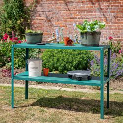 "3' 10½"" Lacewing™ Essential 2 Tier Greenhouse Staging - Green"