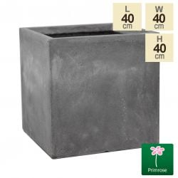 40cm Fibrecotta Cement Large Cube Planter