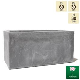 60cm Fibrecotta Medium Cement Trough Planter