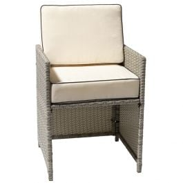 Sherborne Set Of 3 Rattan Dining Chairs In Mixed Grey By Asha™