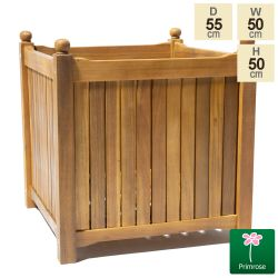 50cm Long Cube Hardwood Planter