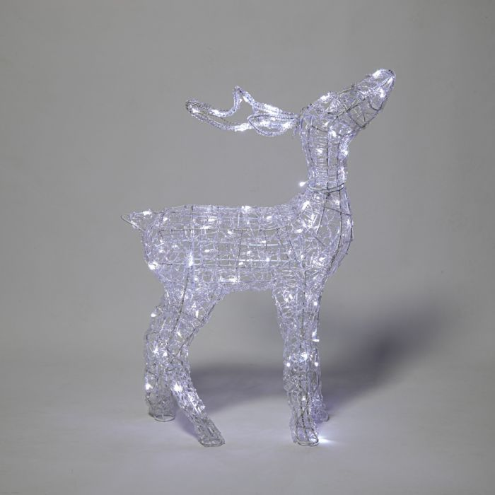 85cm Light Up Twinkling Reindeer Christmas Decoration with Warm White LED's