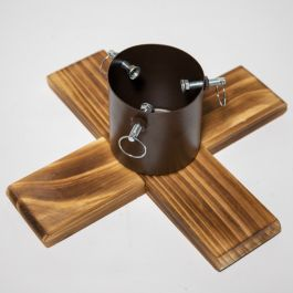 40cm Dark Wooden Christmas Tree Stand