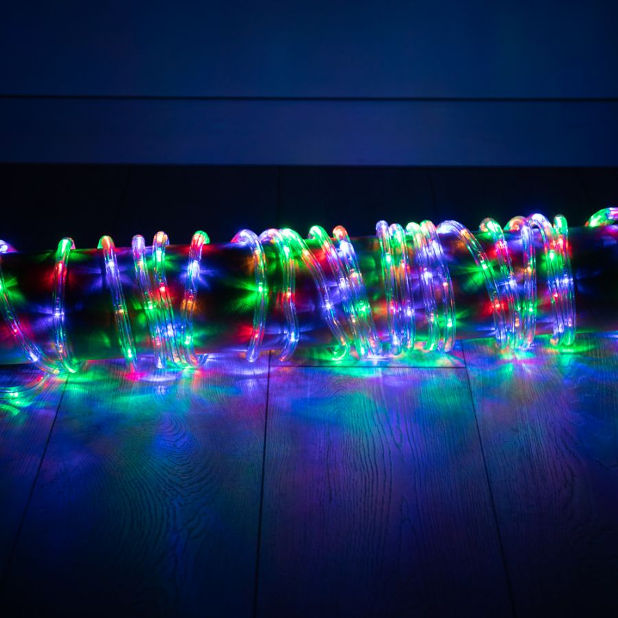 50m Multi Coloured and Multi-action LED Rope Lights