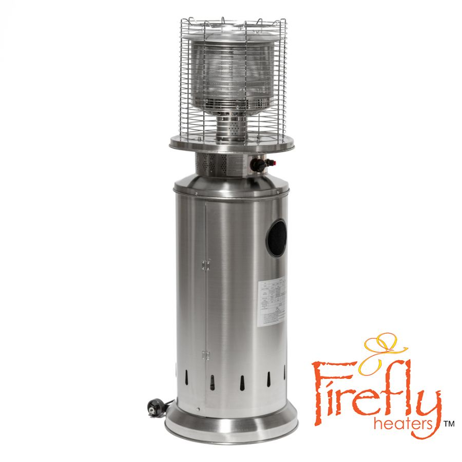 13kW Bullet Gas Patio Heater Stainless Steel by Firefly™