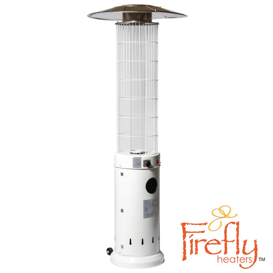 13kW Circle Flame Gas Patio Heater in White by Firefly™