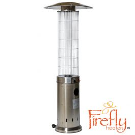 13kW Circle Flame Gas Patio Heater Stainless Steel by Firefly™