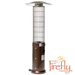 13kW Circle Flame Gas Patio Heater in Brown by Firefly™
