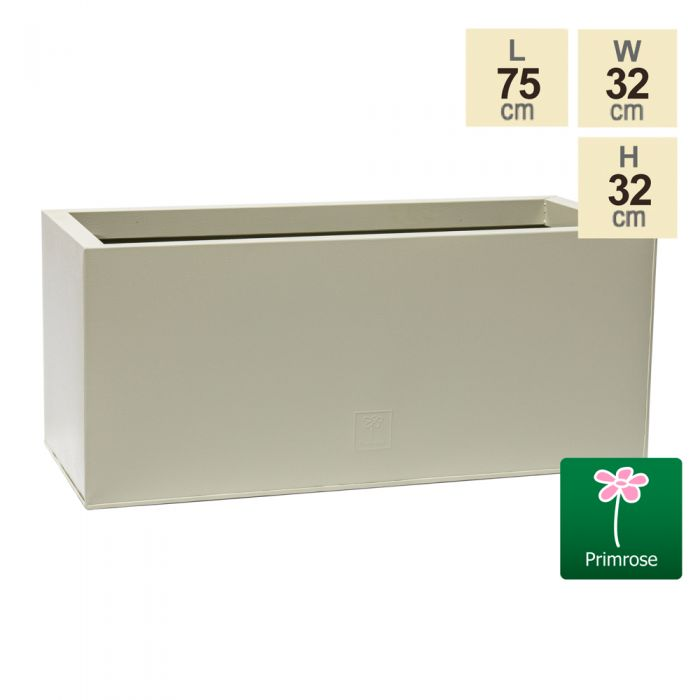 75cm Trough Zinc Ivory Textured Dipped Galvanised Planter