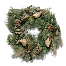50cm Artificial Pine Christmas Wreath