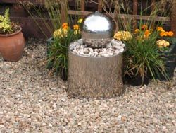 Valaste Stainless Steel Sphere Water Feature