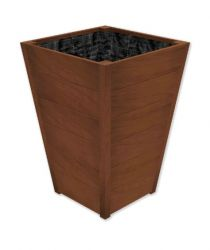 74cm Improved Oak Tapered Wooden Planter By Adezz