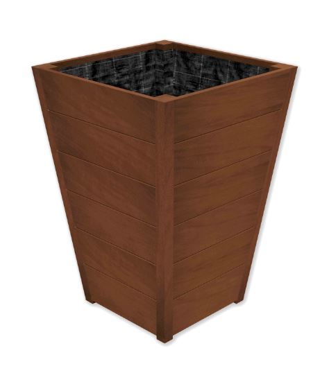 98cm Improved Oak Tapered Wooden Planter By Adezz