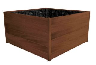 120cm Improved Oak Wooden Cube Planter By Adezz