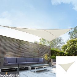 Kookaburra® 6m Right Angle Triangle Ivory Breathable Party Shade Sail (Knitted 185gsm)