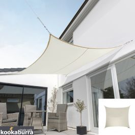 Kookaburra® 2m Square Ivory Breathable Shade Sail (Knitted)