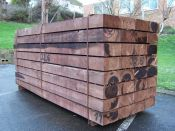 FSC Brown Softwood Sleeper 10 x 22.5 x 240cm