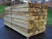 FSC Green Softwood Sleeper 10 x 22.5 x 240cm