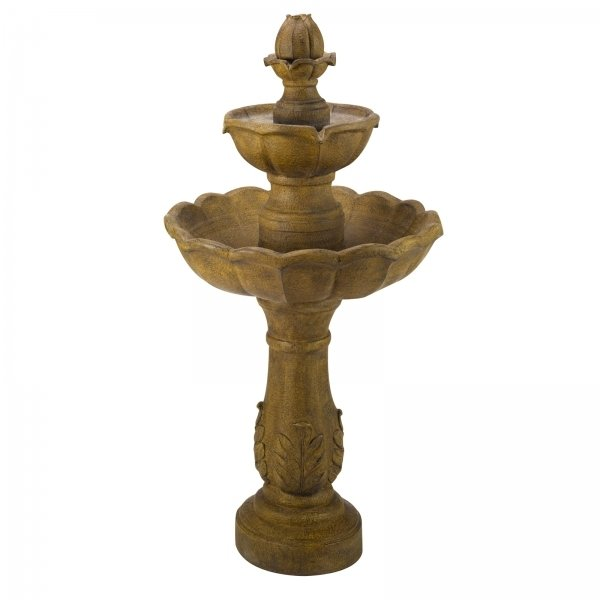 H98cm Kingsbury Solar Powered Water Feature/Bird Bath