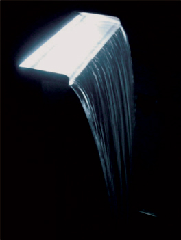 Stainless Steel Cascade Waterfall - White LED Light L60cm