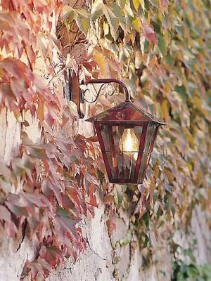 Fenix copper wall lantern