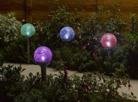 Smart Solar Rainbow Crackle Globe Border Lights (4 Pack)