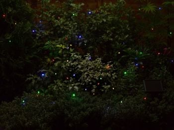 Smart Solar 50 Coloured String Garden Lights 6.9m