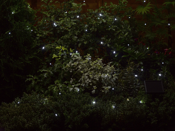 Smart Solar 100 White String Garden Lights 11.9m