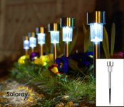 Set of 6 Solaray Stainless Steel Border Lights