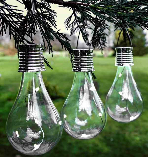 Decorative Hanging Solar Bulb Garden Lights  Pack Of 6