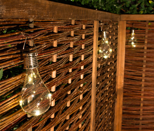 Decorative Hanging Solar Bulb Garden Lights - Pack of 6 - by Solaray™