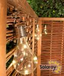 Decorative Hanging Solar Bulb Lights - Pack of 3 - by Solaray™