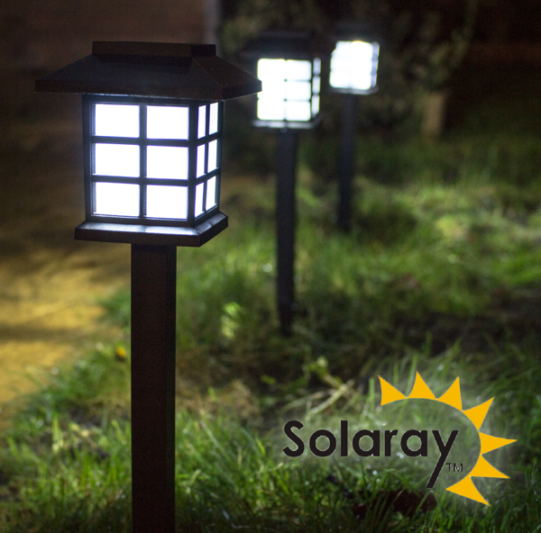Set of 9 Oriental Solar Path Garden Lights by Solaray™