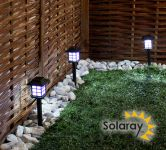 Set of 3 Oriental Solar Path Lights by Solaray™