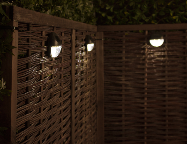 Solar Fence Wall Garden Lights - Pack of 9 - by Solaray™