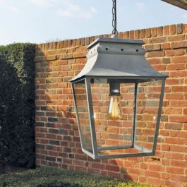 38cm Small Hanging Lantern with Ceiling Rose and Chain