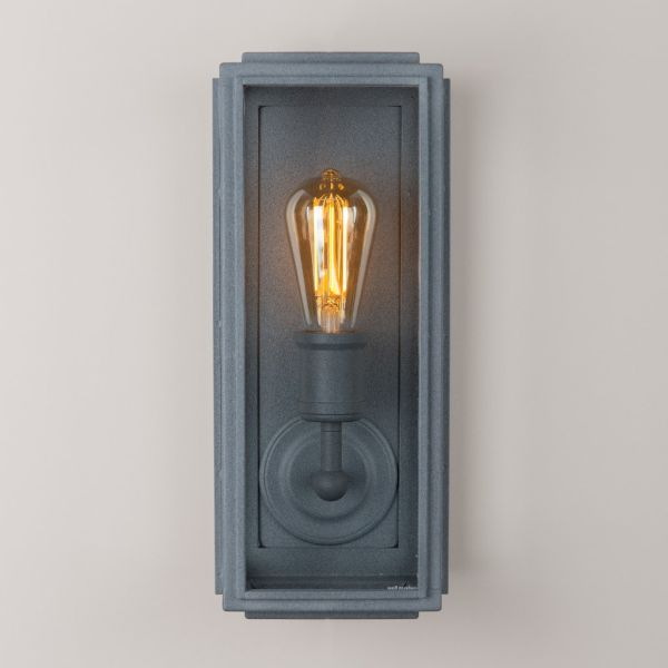 38cm London Wall Lamp with LED Filament Bulb - Slim