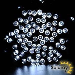 30LED / 5m White LED Solar Fairy String Lights by Solaray™