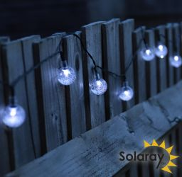 30 (6.35m) Solar Bubble Globe LED String Light by Solaray