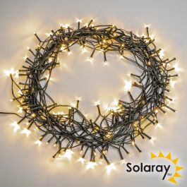 22m 200 White LED Solar Fairy String Lights by Solaray