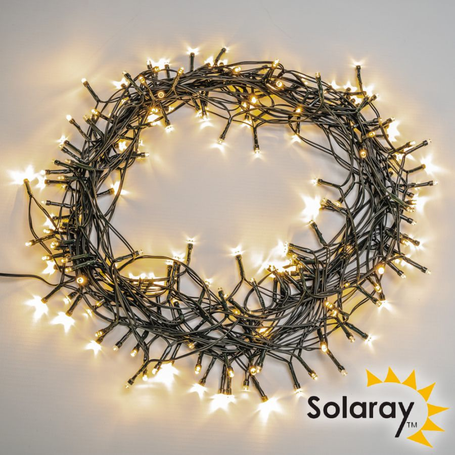 200LED / 22m White LED Solar Fairy String Lights by Solaray™ (Pack of 3)