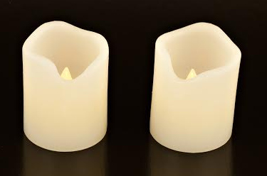Set of 2 Electronic Real Wax Candles